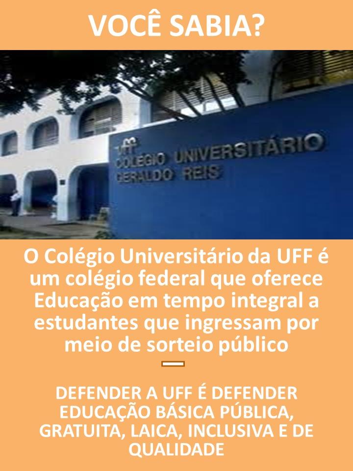 DEFENDER A UFF É DEFENDER A EDUCAÇÃO BÁSICA