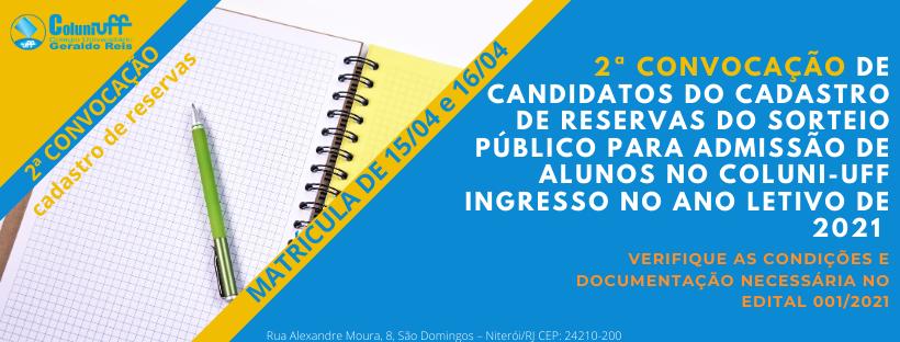 CONVOCAÇÃO CADASTRO DE RESERVA SORTEIO PUBLICO